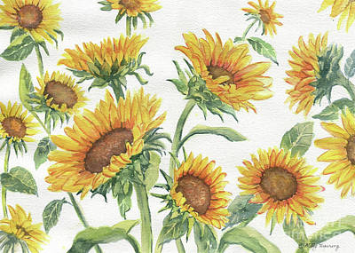 Painting - Blooming Sunflowers by Melly Terpening
