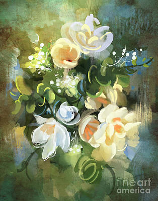 Painting - Blooming by Tithi Luadthong