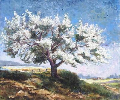 Spring Painting - Blooming Tree by Irek Szelag
