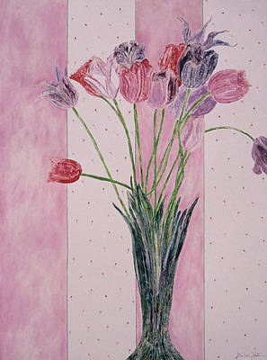 Painting - Blooming Tulip Colors by Dee Van Houten