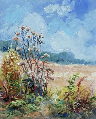 Meadow Painting - Blooming Weeds by Irek Szelag