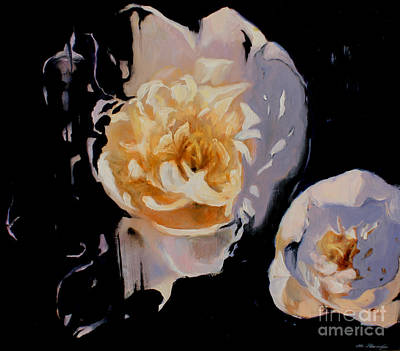 Lin Painting - Bloomnoir by Lin Petershagen