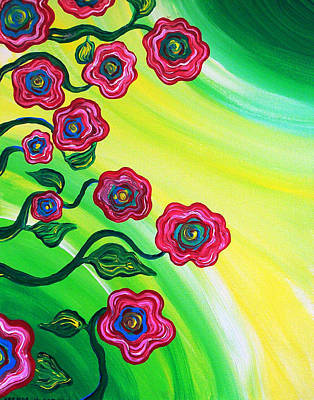 Painting - Blooms by Brenda Higginson
