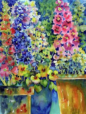 Painting - Blooms In Pots by Ann Nicholson