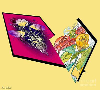 Digital Art - Blooms by Iris Gelbart