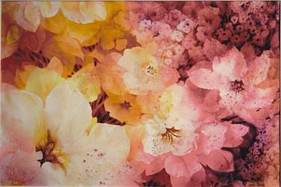 Blooms-of-summer Art Print by Nancy Newman
