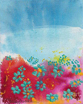 Painting - Blooms by Shelley Overton