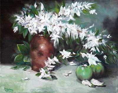 Painting - Blossom And Apples by Courtney Wilding
