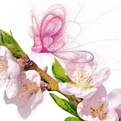 Ghost Digital Art - Blossom And Butterflies by Sharon Lisa Clarke