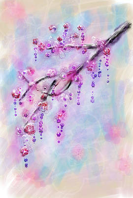 Painting - Blossom Cherry Branch by Svetlana Sewell