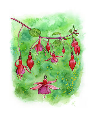 Blossom Fairies Art Print