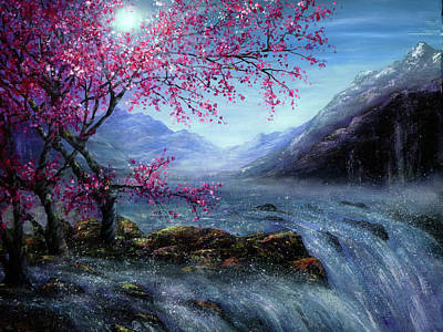 Painting - Blossom Falls by Ann Marie Bone