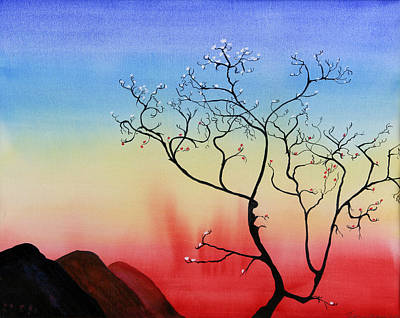 Painting - Blossom In Sunset by Jenny anne Morrison