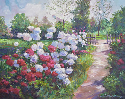 Painting - Blossom Lane by David Lloyd Glover