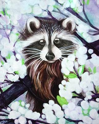 Raccoon Mixed Media - Blossom by Shayne Merideth