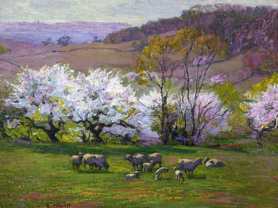 Spring Scenes Painting - Blossom Time by Edward Henry Potthast
