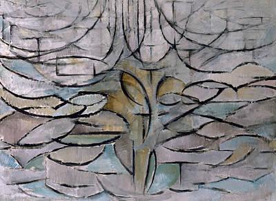 Blossoming Apple Tree Print by Piet Mondrian
