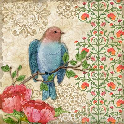 Blossoming Birds IIi Art Print by Paul Brent