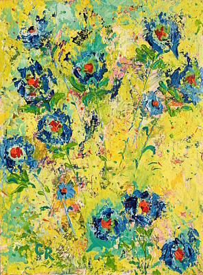 Painting - Blossoming Blue by Chris Rice