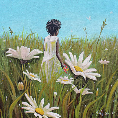 Painting - Blossoming Flower by Jerome White