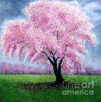 Painting - Blossoming Into Spring by Marie-Line Vasseur
