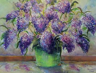 Painting - Blossoming Purple Lilacs IIi  by Bernadette Krupa