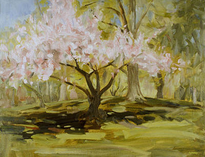 Painting - Blossoming Tree In Central Park by Robert Holden