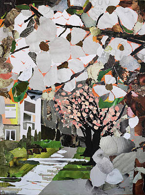 Early Spring Mixed Media - Blossoms by Joanna Turlej