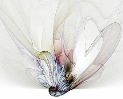 Fractal Digital Art - Blow Away by Amanda Moore