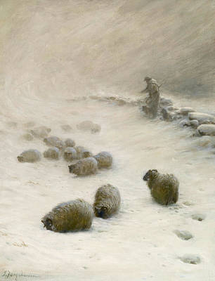 Joseph Farquharson Wall Art - Painting - Blow Blow Thou Wintery Wind by Joseph Farquharson