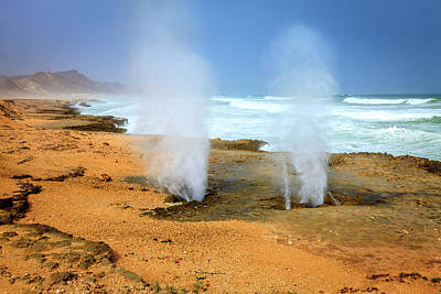 Photograph - Blow Holes by Alexey Stiop
