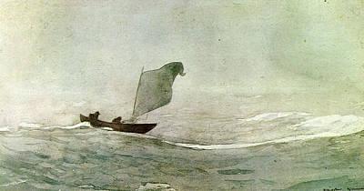 Storm Digital Art - Blowen Away by Winslow Homer