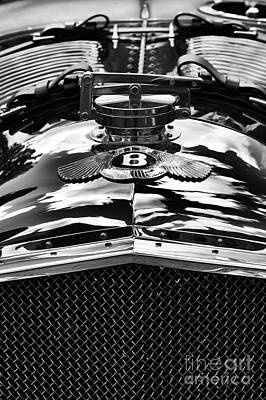 Photograph - Blower Bentley Monochrome by Tim Gainey
