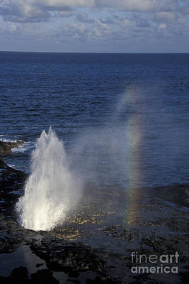 Photograph - Blowhole At Poipu by Stan and Anne Foster