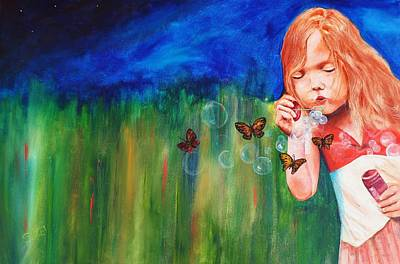 Blowing Butterflies Art Print by Ned M Stacey Sr