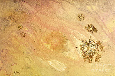 Spontaneous Mixed Media - Blowing In The Wind A Mixed Media Abstract Of Sand And Stars by Phil Albone