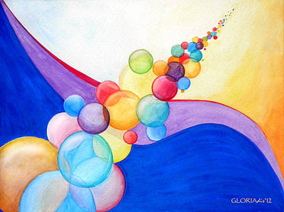 The Universe Painting - Blowing In The Wind by Gloria Di Simone