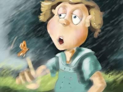 Childrens Books Digital Art - Blowing In The Wind by Hank Nunes