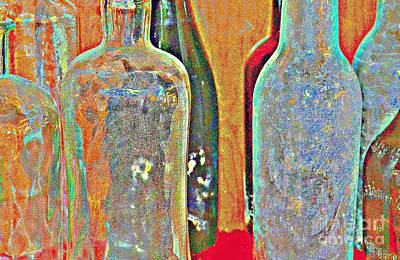 Photograph - Blown Glass Bottles by Diane montana Jansson