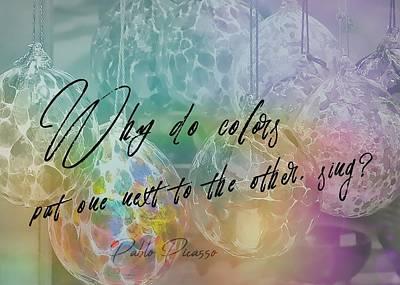 Blown Glass Quote Art Print