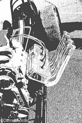 Drag Racing Mixed Media - Blown Hemi Digger by Darrell Foster