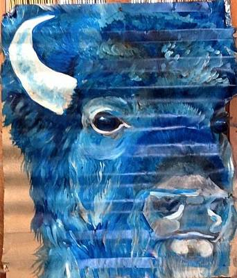 Painting - Blu Bison by Patty Sjolin