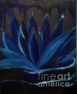 Painting - Blu Lotus Purple Reign by Talisa Hartley