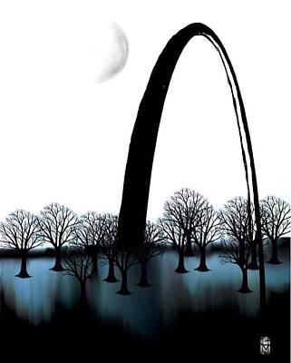 Digital Art - Blu Lou by Gerry Morgan