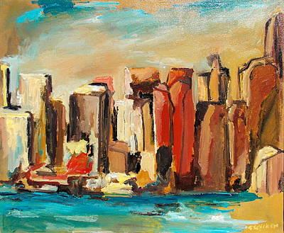 Sanfrancisco Painting - Blu400 by Giuliano Sacchero
