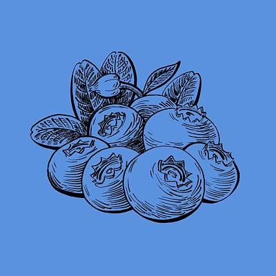 Blueberries Group Art Print by Irina Sztukowski