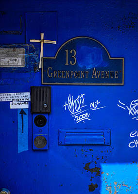 Greenpoint Photograph - Blue 13 by Terepka Dariusz