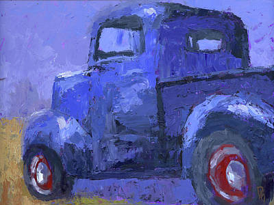 Painting - Blue 1940 Ford Pickup by David King