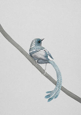 Bird Wall Art - Digital Art - Blue 2 by Diego Fernandez