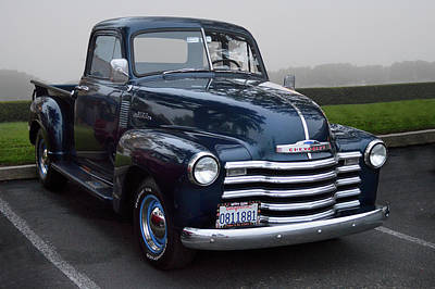 Photograph - Blue 3100 Chevy by Bill Dutting
